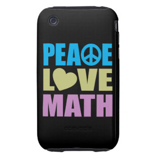 Peace Love Math iPhone 3 Tough Covers