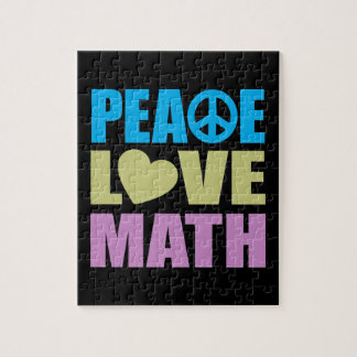 Peace Love Math Jigsaw Puzzle