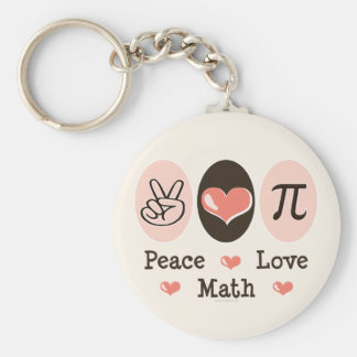 Peace Love Math Key Chain