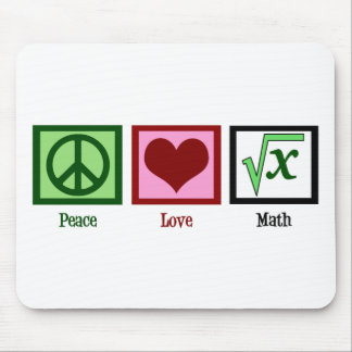 Peace Love Math Mousepads