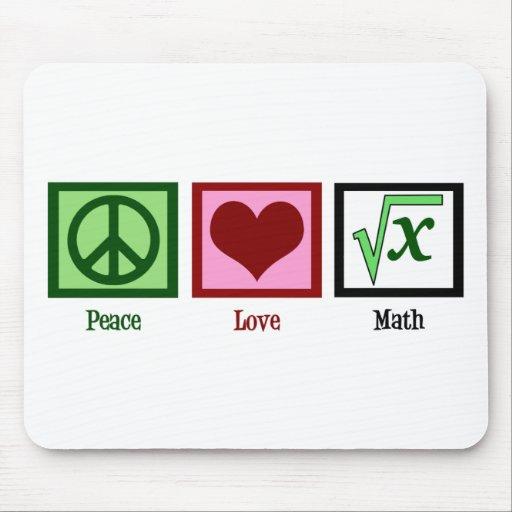 Peace Love Math Mousepads