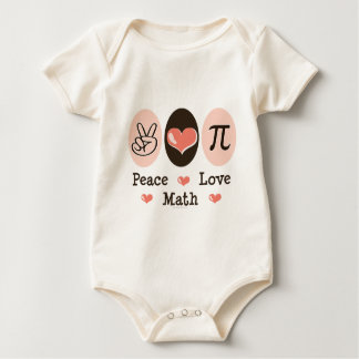 Peace Love Math Organic Baby Bodysuit