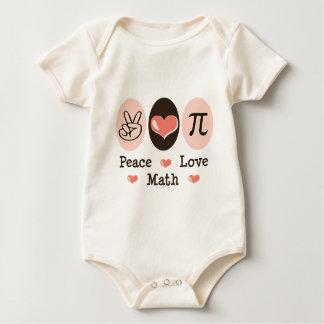 Peace Love Math Organic Baby Bodysuit