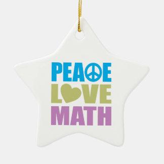 Peace Love Math Christmas Ornaments