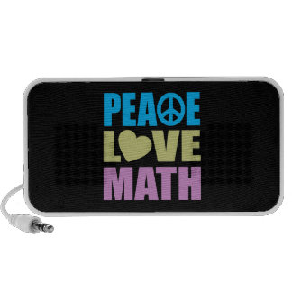 Peace Love Math Portable Speaker