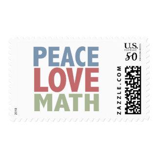Peace Love Math Postage