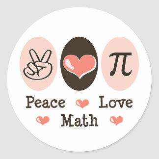 Peace Love Math Stickers