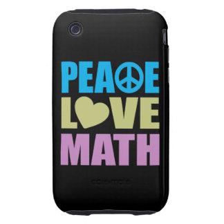 Peace Love Math Tough iPhone 3 Cover