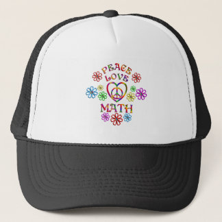 Peace Love Math Trucker Hat