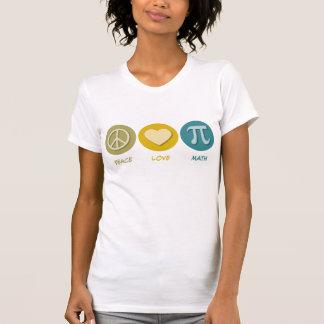 Peace Love Math T Shirts