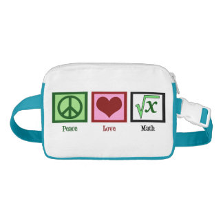 Peace Love Math Waist Bag