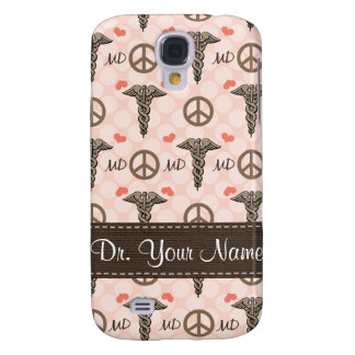 Peace Love MD Caduceus  Galaxy S4 Cases