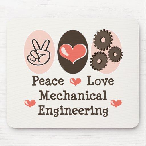Peace Love Mechanical Engineering Mousepad
