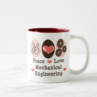Peace Love Mechanical Engineering Mug