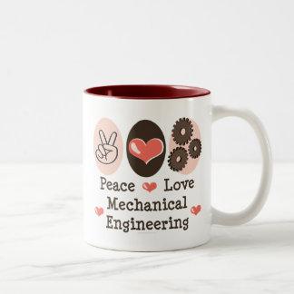 Peace Love Mechanical Engineering Mug