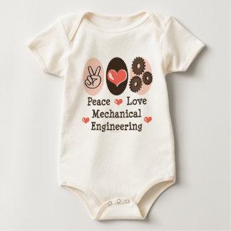 Peace Love Mechanical Engineering Organic Bodysuit