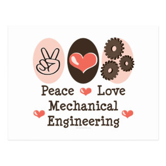 Peace Love Mechanical Engineering Postcard