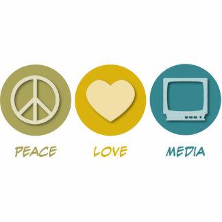 Peace Love Media Acrylic Cut Outs