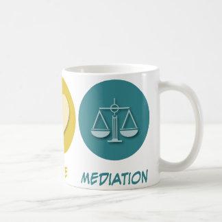 Peace Love Mediation Coffee Mug