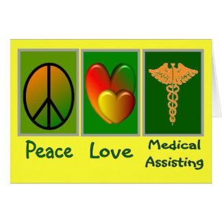Peace Love Medical Assisting Card