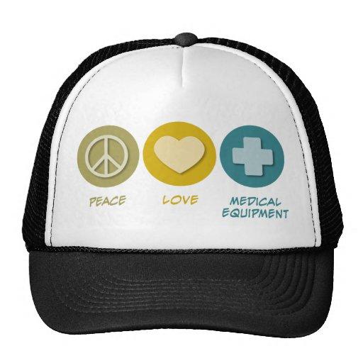 Peace Love Medical Equipment Hats
