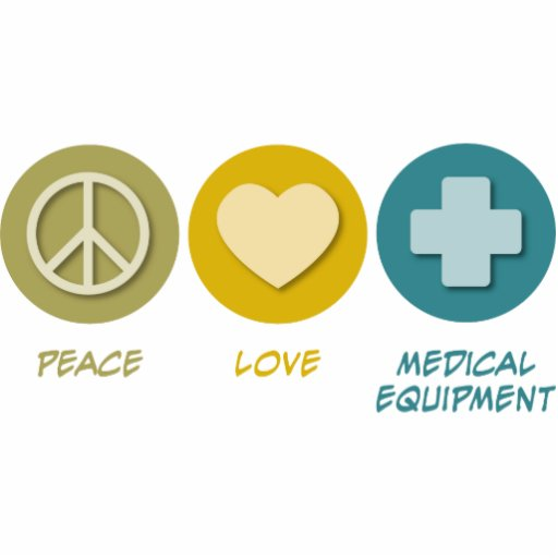 Peace Love Medical Equipment Photo Sculpture