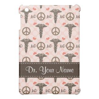 Peace Love Medicine Caduceus Doctor iPad Mini Cases