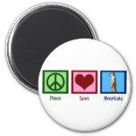 Peace Love Meerkats Magnet