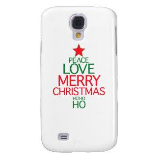 Peace Love Merry Christmas ho ho ho Galaxy S4 Covers