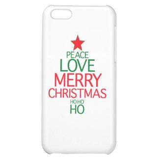 Peace Love Merry Christmas ho ho ho iPhone 5C Cases