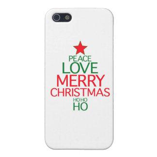 Peace Love Merry Christmas ho ho ho iPhone 5 Covers