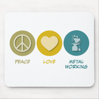 Peace Love Metal Working Mouse Pad
