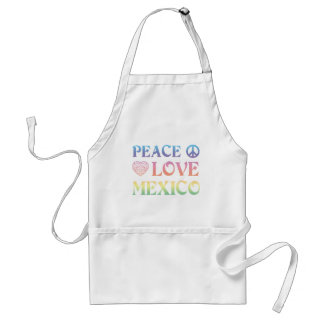 Peace Love mexico Adult Apron