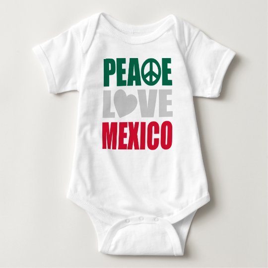 Peace Love Mexico Baby Bodysuit