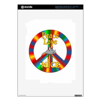 Peace Love Mice iPad 3 Skins