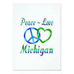 Peace Love Michigan Invitations