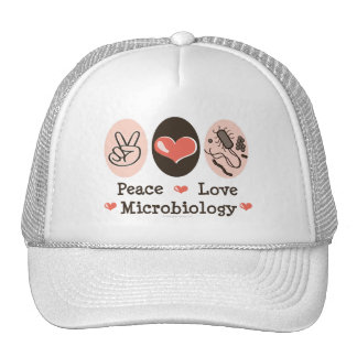 Peace Love Microbiology Hat