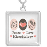 Peace Love Microbiology Necklace