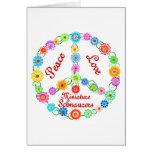 Peace Love Miniature Schnauzers Greeting Card
