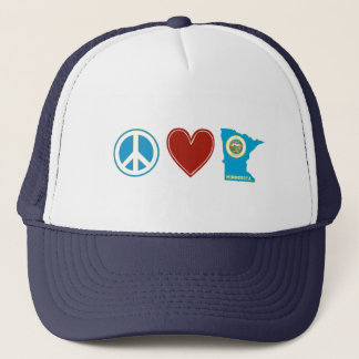 Peace Love Minnesota Trucker Hat