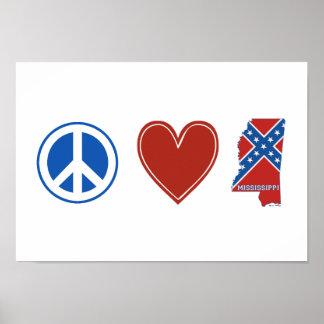 Peace Love Mississippi Print