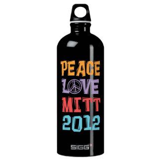 PEACE LOVE MITT 2012 - Mitt Romney - Political SIGG Traveler 1.0L Water Bottle