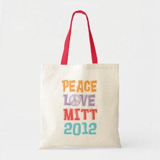 PEACE LOVE MITT 2012 TOTE BAG