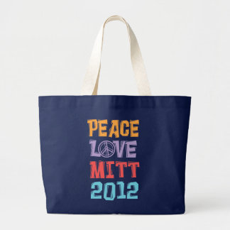 PEACE LOVE MITT 2012 TOTE BAGS
