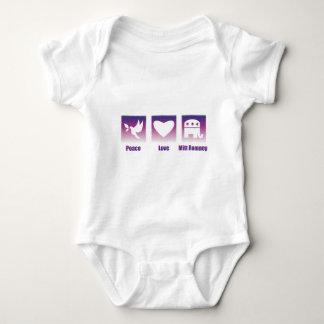 PEACE LOVE MITT ROMNEY BABY BODYSUIT