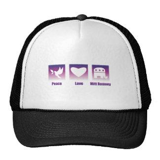 PEACE LOVE MITT ROMNEY TRUCKER HAT