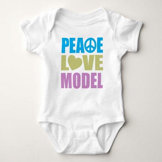 Peace Love Model Baby Bodysuit