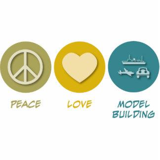 Peace Love Model Building Photo Sculpture Ornament