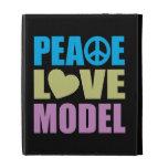 Peace Love Model iPad Folio Case