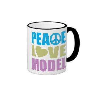 Peace Love Model Coffee Mug